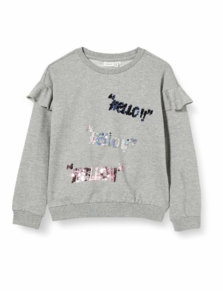Name It Girl's Nkfbenia Ls Sweat Box Unb Sweatshirt