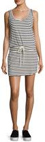 Monrow Cotton Striped Tennis Dress