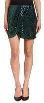 BCBGMAXAZRIA Joanne Floral Garden Sequin Wrap Skirt.