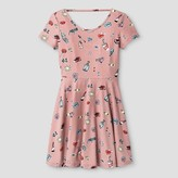 Say What Girls' Brushed Poly Fit N Flare Dress - Pale Mauve