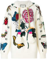 Gucci embroidered oversized hoodie