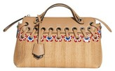 Fendi Small By The Way Raffia Satchel - Brown