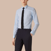 Burberry Slim Fit Double-cuff Gingham Cotton Poplin Shirt