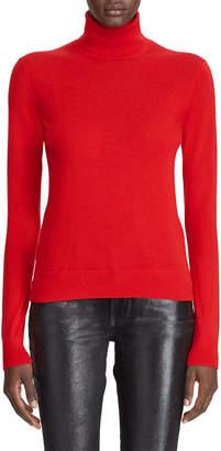 Ralph Lauren Cashmere Jersey Turtleneck Sweater, Red