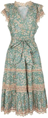 Ulla Johnson Lola floral cotton midi dress