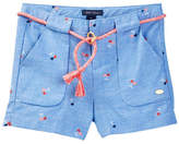Tommy Hilfiger Cherry Printed Chambray Short (Little Girls)