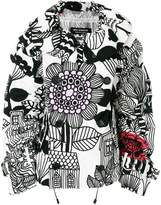Junya Watanabe floral print double breasted jacket