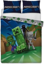 Thumbnail for your product : Minecraft Creeps Double Duvet Cover And Pillowcase Set