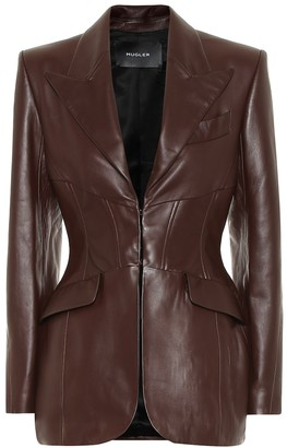 Thierry Mugler Leather blazer