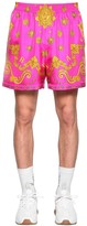Versace ALLOVER PRINT SILK SHORTS