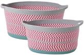 Rice Oval Storage Baskets - Set of 2