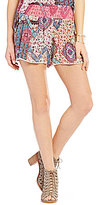 Patrons Of Peace Printed Smocked Soft Shorts