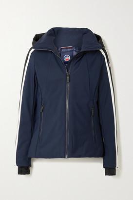 Fusalp Sidonie Hooded Padded Striped Ski Jacket - Navy