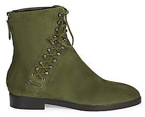 Alaia Women's Suede Lace-Up Booties