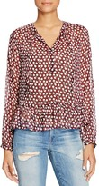 Scotch & Soda Floral Print Peplum Blouse
