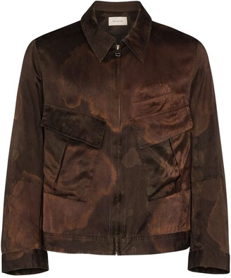 Bed J.W. Ford Silk And Cotton-Blend Shirt Jacket