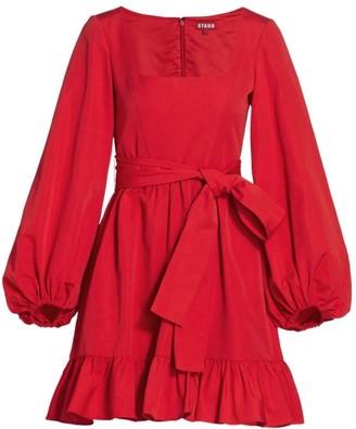 STAUD Seth Squareneck Mini Dress