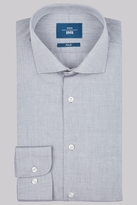 Moss Bros Slim Fit Grey Single Cuff Chambray Shirt