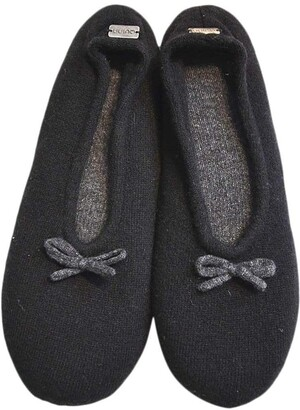 Richard Quinn Cashmere and Suede Slippers