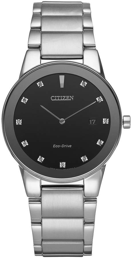 Citizen Eco-Drive Men's Axiom Diamond Stainless Steel Watch - AU1060-51G