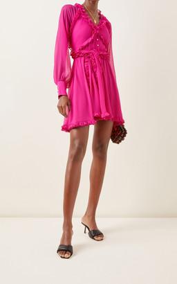 Alexis Suzette Ruffled Chiffon Mini Dress
