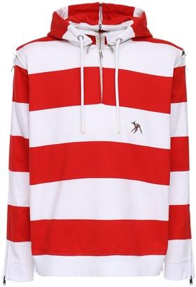 Burberry Striped Cotton Jersey Sweatshirt Hoodie
