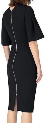 Roland Mouret Moria Bell-Sleeve Sheath Dress