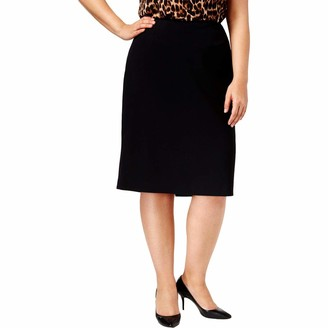 Anne Klein Women's Plus Size Two Pocket Skirt