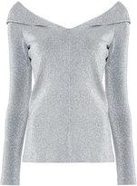 Rosetta Getty metallic (Grey) effect blouse