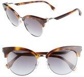 Fendi Women's 55Mm Gradient Lens Cat Eye Sunglasses - Black