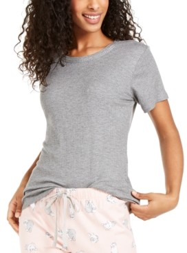 Jenni Super-Soft Ribbed Pajama T-Shirt, Created for Macy's