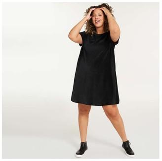 Joe Fresh Women+ Tee Dress, JF Black (Size 2X)