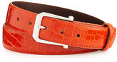 W.KLEINBERG W. Kleinberg Custom Glazed Alligator Belt with Sterling Silver Buckle (Made to Order)