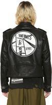 Enfants Riches Deprimes Hand-Painted Leather Biker Jacket