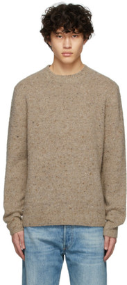 Acne Studios Brown Pilled Melange Sweater