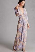 Forever 21 FOREVER 21+ Selfie Leslie Kimono Maxi Dress