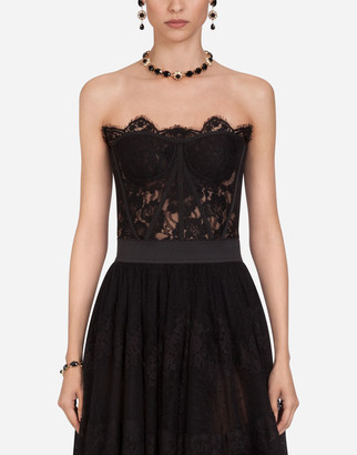 Dolce & Gabbana Short Galloon Lace Bustier