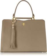 Buti Taupe Leather Satchel Bag