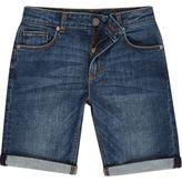 River Island Boys blue wash denim shorts