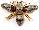 Avalaya Oversized Diamante Bee Brooch