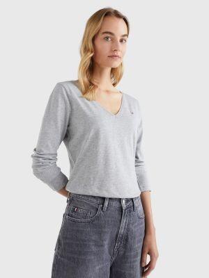 Tommy Hilfiger Organic Cotton Long Sleeve V-Neck T-Shirt