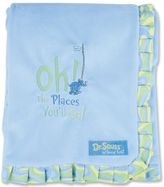 Trend Lab Dr. Seuss Oh The Places You'll Go Velour Receiving Blanket by Blue