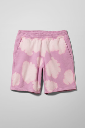 Weekday Hakim Bleached Jersey Shorts - Purple