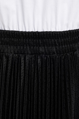 RED Valentino Cotton-jersey And Pleated Mesh Dress