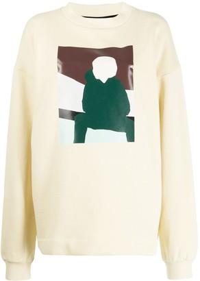 Plan C graphic print oversized jumper