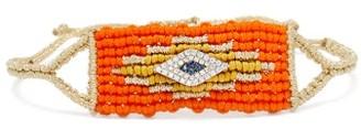 Diane Kordas Evil Eye Diamond & Sapphire Woven Bracelet - Orange
