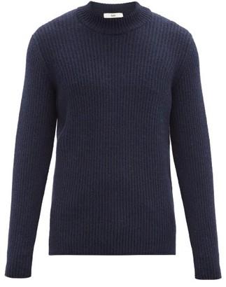 Séfr Leth Ribbed-knit Sweater - Navy