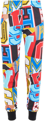 Love Moschino Printed French Cotton-terry Track Pants
