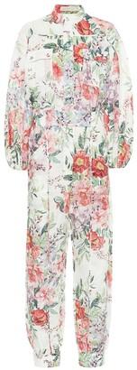 Zimmermann Bellitude floral linen jumpsuit