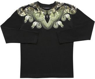 Marcelo Burlon County of Milan Snake Print Cotton Jersey T-shirt